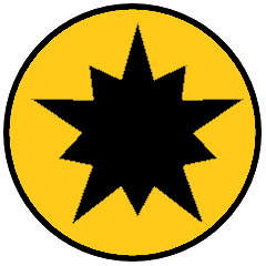 This image has an empty alt attribute; its file name is Ansteorra-Badge-gold-2.png
